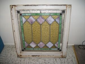 One antique stained glass window for sale $85.00