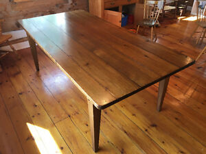 Beautiful wood dining room table