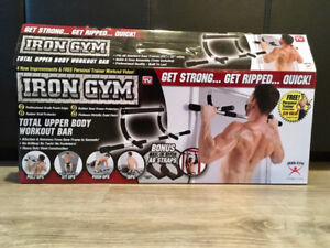 BRAND NEW gym equipment - Kettlebells (8kg/16kg) and chin up bar