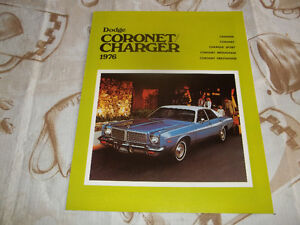 BROCHURE AUTO DODGE CORONET/ CHARGER ( 1976 )