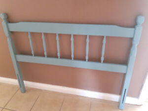 Soft blue twin headboard