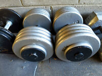 90 Pound Dumbells For Sale.