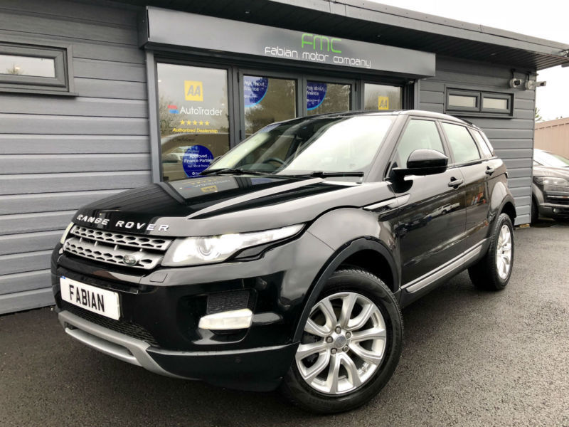 2014 64 land rover range rover evoque 2 2sd4 4x4 4wd pure tech black sat nav in swansea. Black Bedroom Furniture Sets. Home Design Ideas