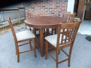 family dining table and 4 chairs bistro set