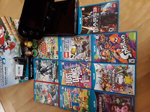 Wii U with 10 games & 2 Animal Crossing Amiibos
