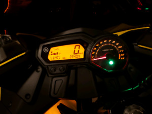 2009 yamaha FZ6R yellow