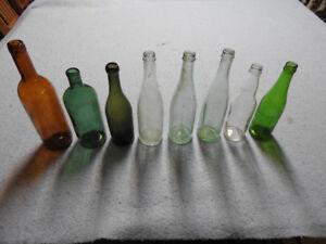 8 Vintage Beer Bottles, Pop Bottles