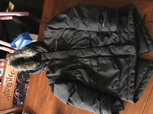 Manteau d'hiver Columbia 6-6x fille gris foncé, habit de neige