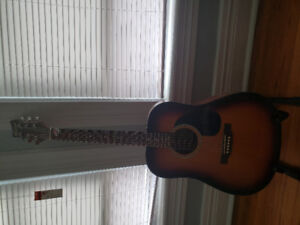 Beaver creek acoustic guitar with stand
