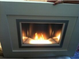 Wall Mounted Electric Fire with Remote Control