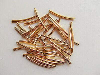 30pz perline ottone spacer separatori  tubo 25x2mm colore oro