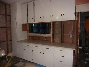 Large Set of Kitchen Cupboards & Pantry with Countertops $550