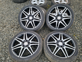 "18"" Mercedes C Class Genuine Alloy wheels and tyres"