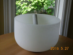 Frosted Crystal Quartz Singing Bowls - ALL NEW