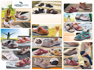 Red Leather Sandals by Ortho Solutions - by Hans Leibniz Cambridge Kitchener Area image 4