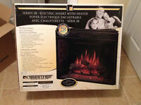 Electric Fireplace insert with heater - brand new in the box