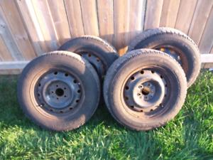 "Snow tires on 16"" rims"