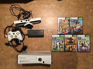 xbox 360 kinect + 5 games