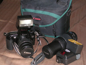 Canon EOS 3000 and 75-300mm f/4-5.6 III Lens and 28-80mm Lens