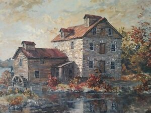Original Oil Painting by James L. Keirstead – Keirstead Mill Kitchener / Waterloo Kitchener Area image 2