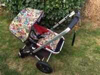 Custom Marvel hood and buggy liner for Bugaboo Cam1,2,3 gecko and frog Pram