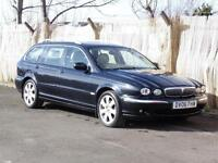 Jaguar X-TYPE 2.2D Estate, Black,2006 SE,