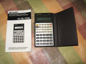 calculatrice SHARP EL-733A