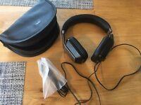 MONSTER Inspiration On-Ear Black ControTalk Passive Noise Isolation TravelCase Unused!!