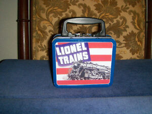 LIONEL TRAINS COLLECTOR COOKIE TIN MINI LUNCH BOX-VINTAGE!