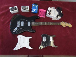 Fender Squire Strat Guitar with extras