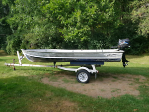 5 hp motor brand new 16 foot boat
