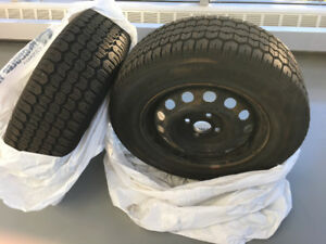 Winter tires with rims,  with lots of tread - set of 4