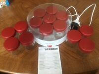 Severin Electric Yoghurt Maker complete with 14 glass Jars and instruction manual.