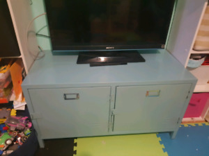 metal tv stand and storage