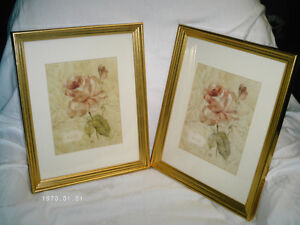 """Two Gold Picture Frames 12 1/2"""" x 15 1/2"""" Kitchener / Waterloo Kitchener Area image 1"""