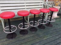 Genuine pub stools great for home bar