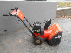 Electric start self propelled snowblower