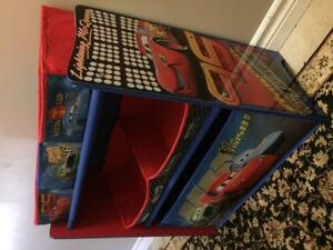 Disney Cars Multi Bin Toy Organizer & Toy Box