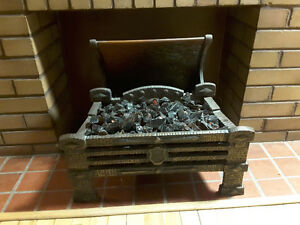 1930 cast iron electric fireplace insert