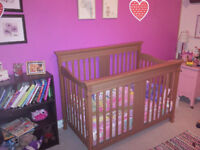 """Storkcraft crib and change table """"my litttle girl is growing up"""""""