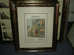 2  Estampes de SELLIER - Two Decorative Saddle old prints framed