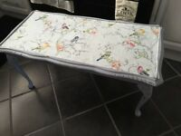 Shabby chic coffee table dove grey , paper top duck egg with grey £30 b on a no offer