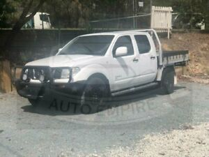 2013 Nissan Navara D40 MY12 RX (4x4) White 6 Speed Manual Dual Cab Chassis Underwood Logan Area Preview