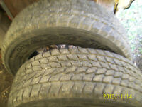 2 TOYO WINTER TIRES SIZE 205/65/15