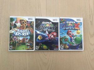 Wii games for sale! (Summer Sports, Super Mario Galaxy)
