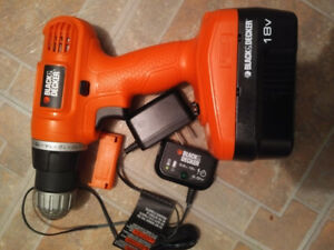 Black and Decker Cordless Drill and charger