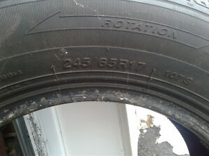245/65/R17 Winter tires 400 OBO Cornwall Ontario image 2