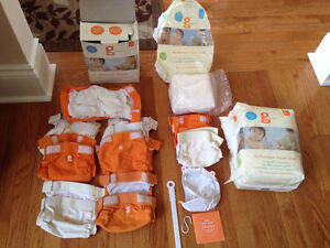 Small and med-large g diapers cloth diapers