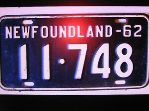 NFLD. 60'S TAGS