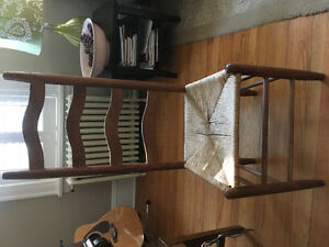 4 Shaker Ladder back chairs